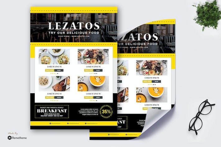 Thumbnail for Lezatos - Restaurant et Menu Affiche HR