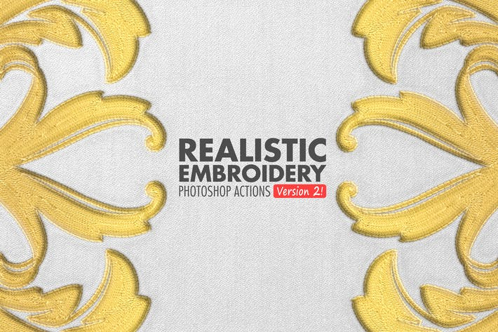 Thumbnail for Realistic Embroidery 2 - Photoshop Actions