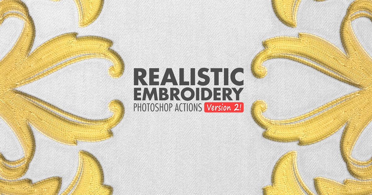 Download Realistic Embroidery 2 - Photoshop Actions by BlackNull