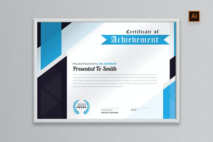 Thumbnail for NS - Certificate Template - Vol.1