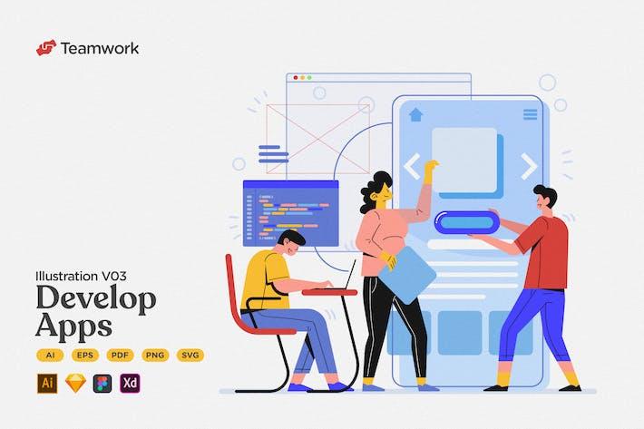 Teamwork - Design & Developing Mobile App