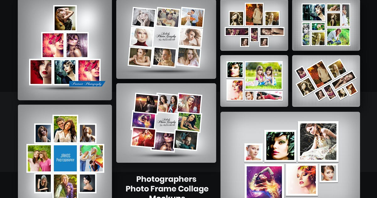 Download Photographers Photo Frame Collage Mockups by HTMLguru