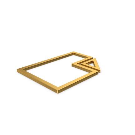 Gold Symbol Electronic File