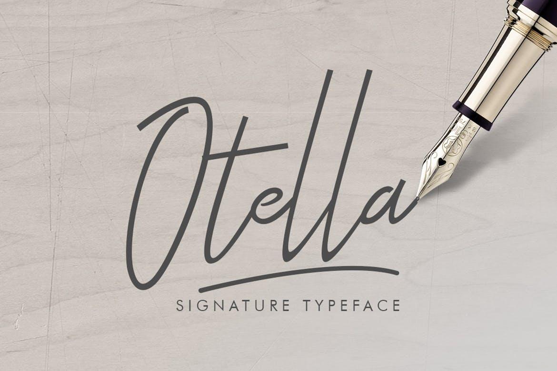 Otella-Signature-Font