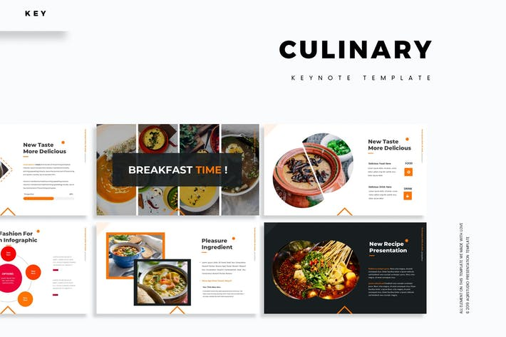 Cover Image For Culinary - Keynote Template