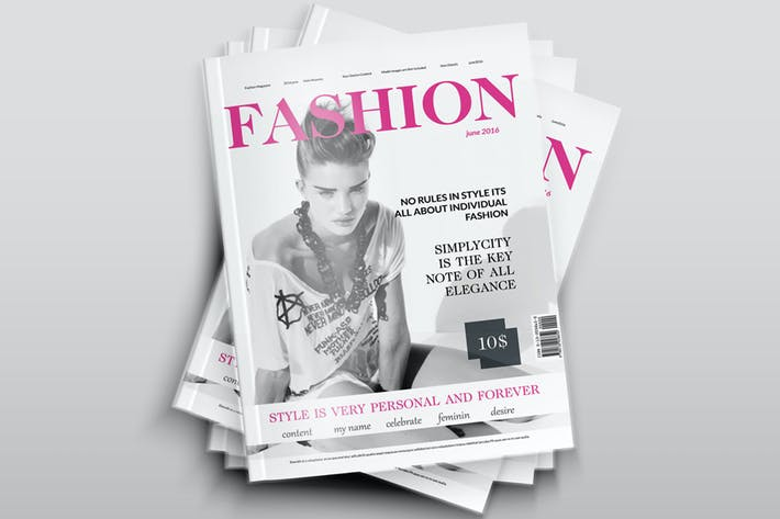 Cover Image For Fashion Magazine