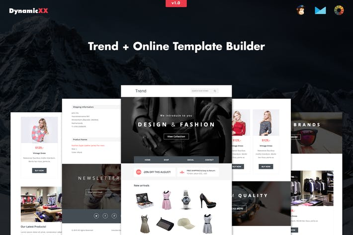 Thumbnail for Trend - Responsive Fashion Email + Online Builder