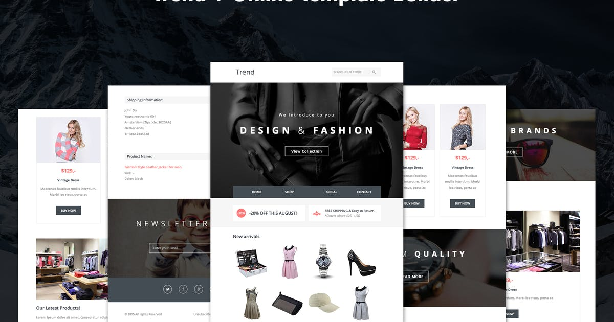 Download Trend - Responsive Fashion Email + Online Builder by DynamicXX