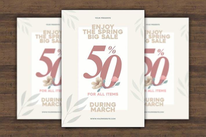 Cover Image For Spring Big Sale Flyer