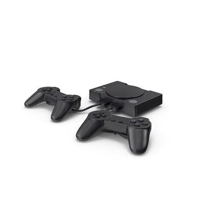 Consola de juegos antigua con mando