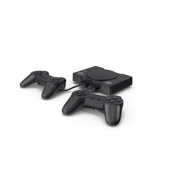Old Gaming Console with Controller