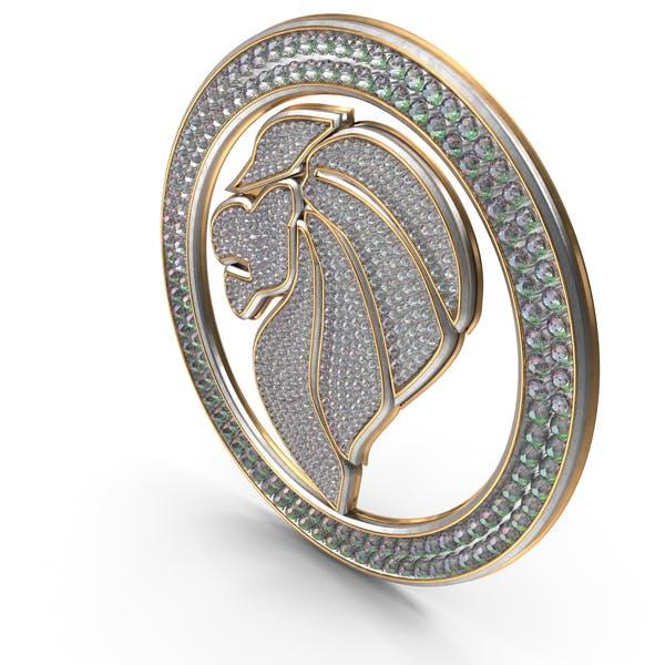 Bling Diamonds Symbol Lion