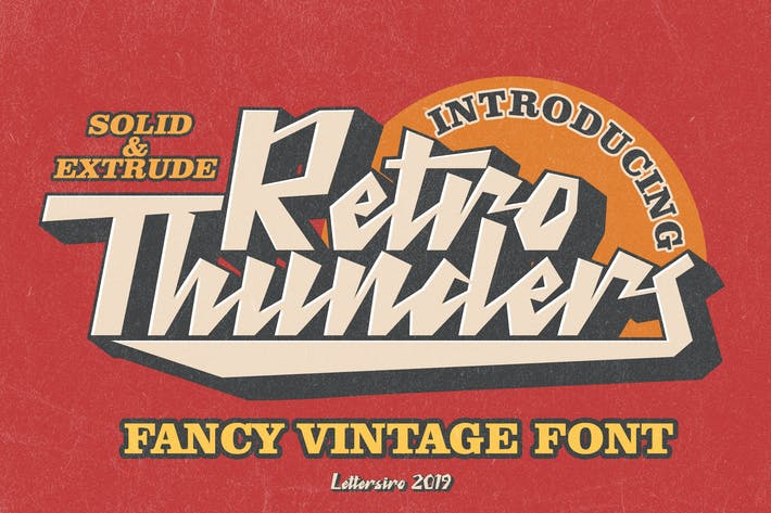 Thumbnail for Retro Thunders - Retro Font