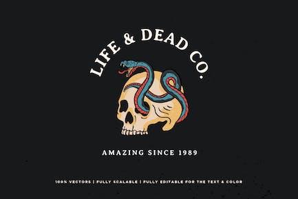Skull and Snake Logo - KNA