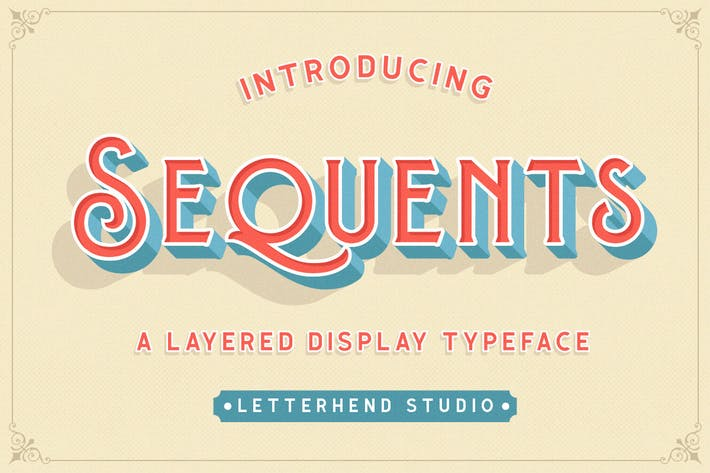 Thumbnail for Sequents - Layered Font (+ORNAMENT)