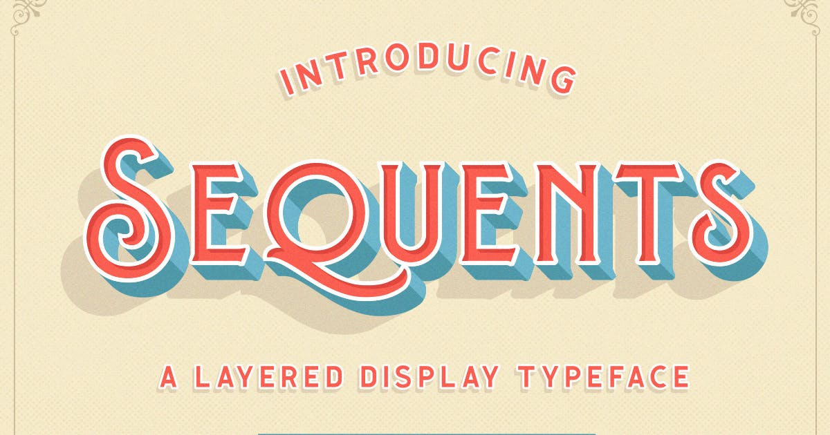 Download Sequents - Layered Font (+ORNAMENT) by letterhend