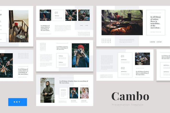 Thumbnail for Cambo - Outdoor Camping Keynote Template