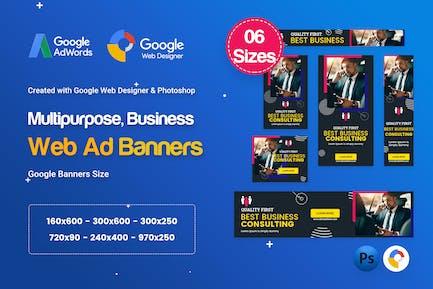 Multi-Purpose Banners HTML5 D74 Ad - GWD & PSD