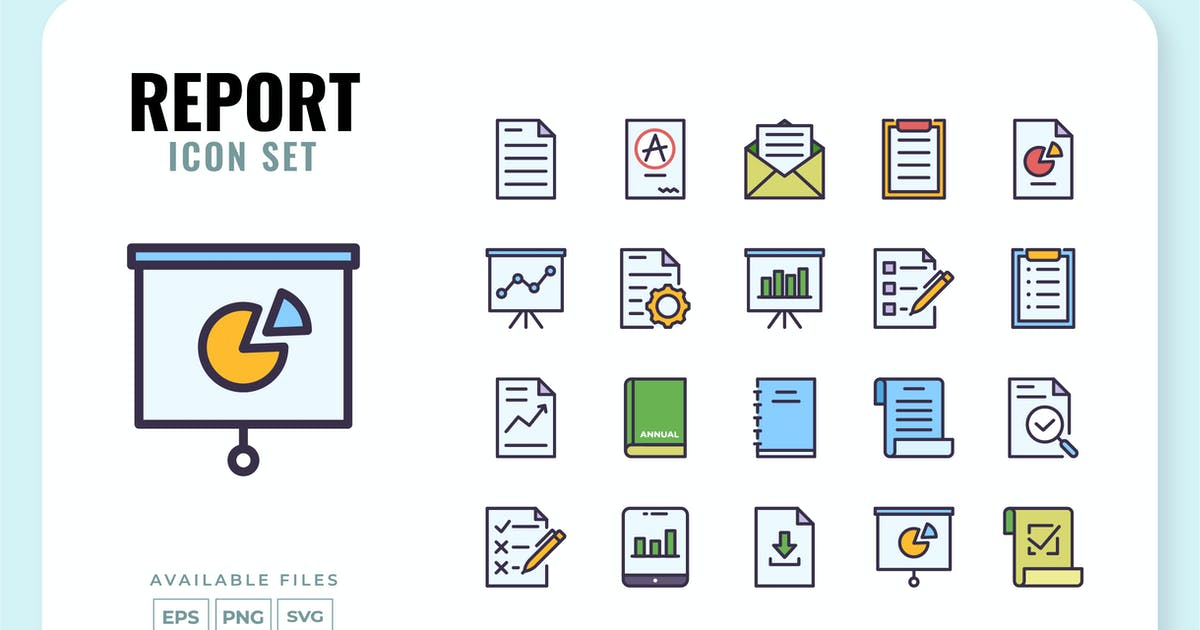 Download Report Icon Set by yellowline_std