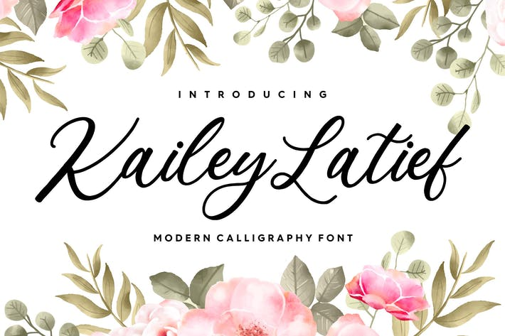 Thumbnail for Kailey Latief YH - Fuente de caligrafía moderna