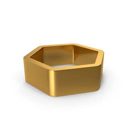 Sechseck-Gold