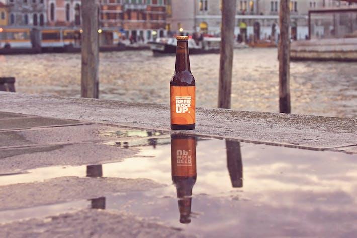 Thumbnail for Street Reflection Beer Mockup