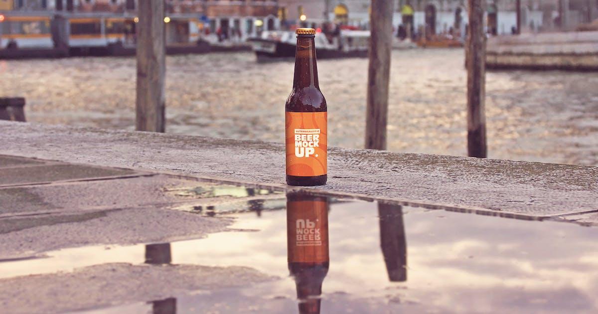 Download Street Reflection Beer Mockup by SmartDesigns_eu