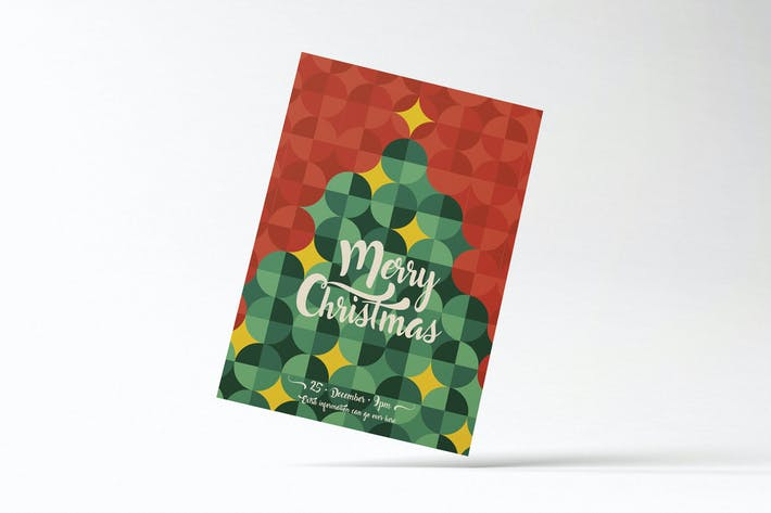 Thumbnail for Cool Retro Christmas Flyer Card