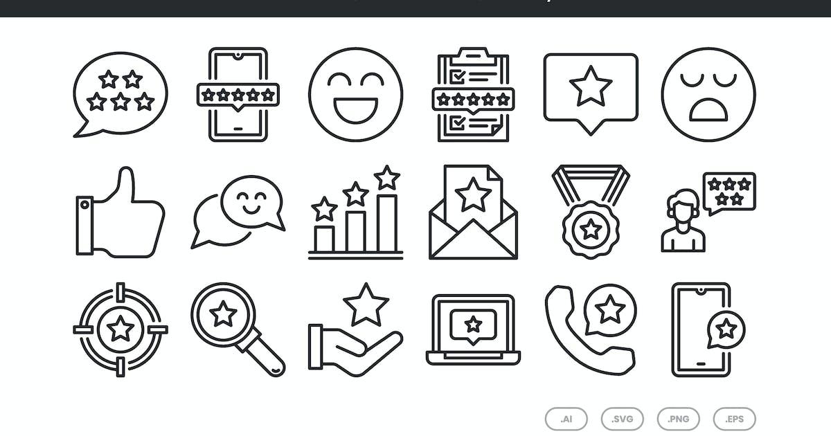 Download 20 Feedback Icons Set - Line by kmgdesignid