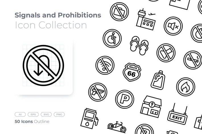 Signals and Prohibitions Outline Icon