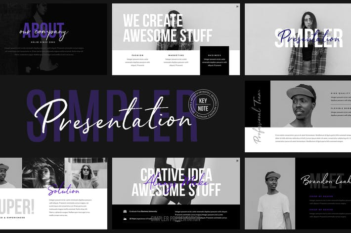 Thumbnail for Simpler Presentation - Keynote Template