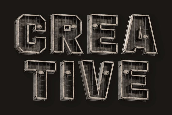 Industrial Box - 3D Color SVG Font
