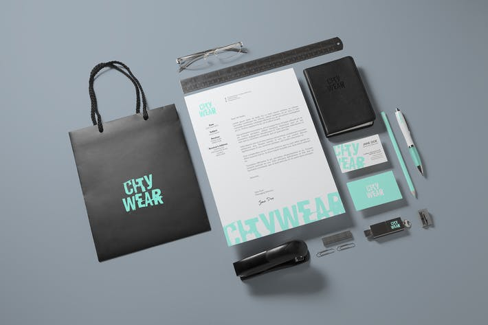 Cover Image For Corporate Branding / Identity Mock-up