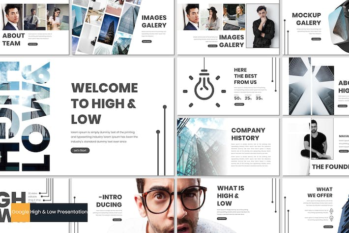 Thumbnail for High & Low - Google Slides Template