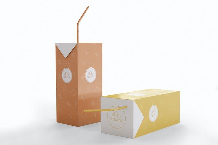 Säfte Kartonverpackung Mockup