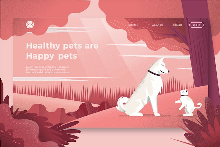 Thumbnail for Cat and Dogs - Banner & Landing Page