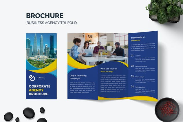 Brochure Business Agency Trifold