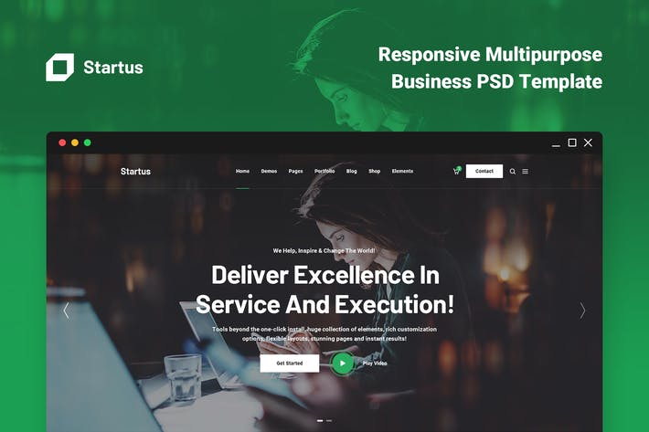 Thumbnail for Startus - Multipurpose Business PSD Template