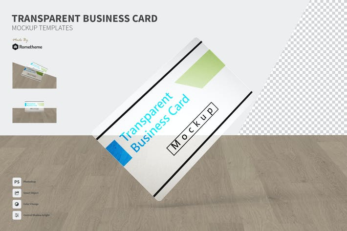 Thumbnail for Transparent Business Card - Mockup FH