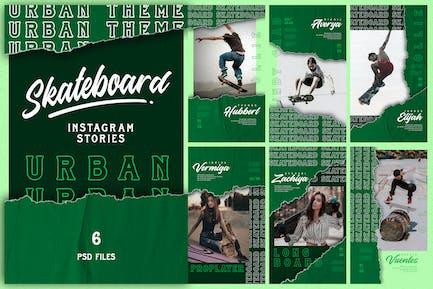 Urban Theme - Skateboard Instagram Stories