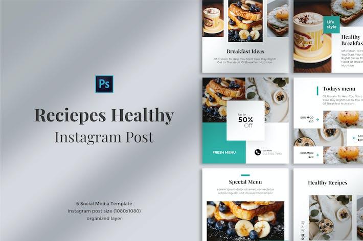 Reciepes Healthy Social media post 01
