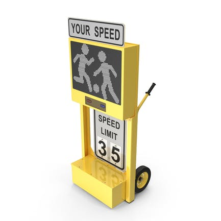 Radar Speed Sign Dolly with Matrix Messaging Display