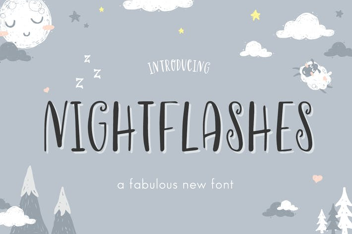 Thumbnail for Nightflashes Font