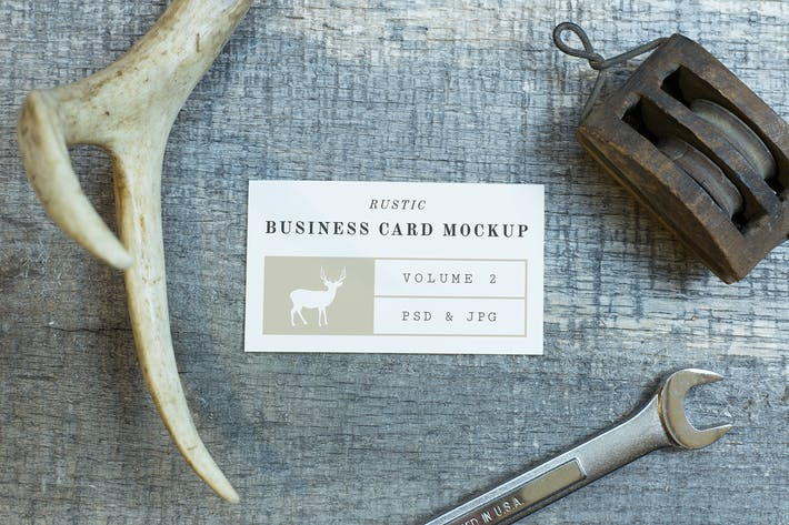 Thumbnail for Rustic Business Card Mockup Vol. 2