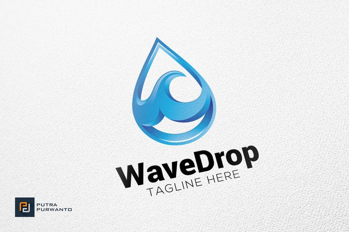 Thumbnail for Wave Drop - Logo Template
