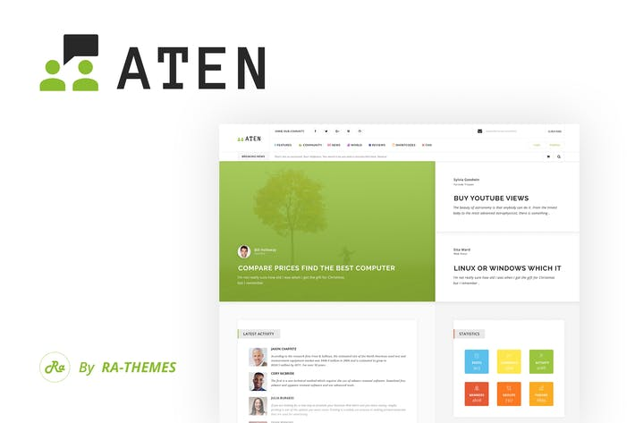 Thumbnail for Aten - Intranet & Community PSD Template