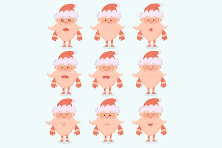 Weihnachtsmann Zeichentrickfiguren Emotionen