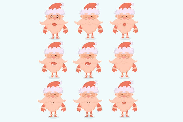 Thumbnail for Santa Claus Cartoon Characters Emotions