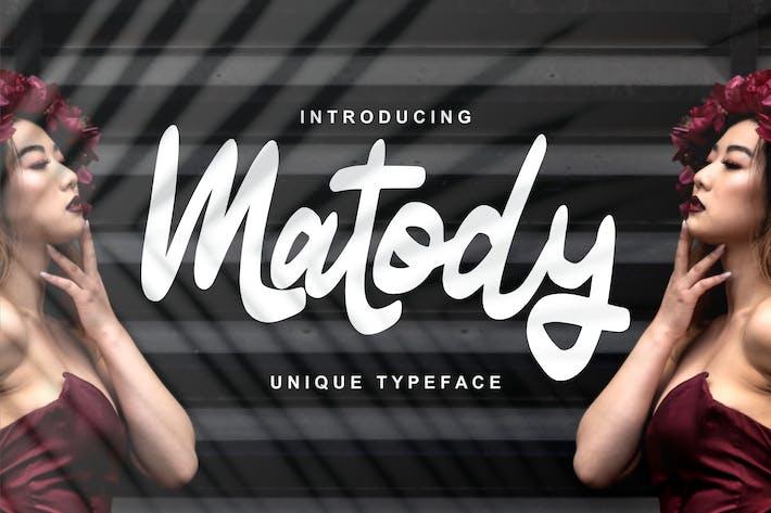 Thumbnail for Matody | Unique Typeface Script