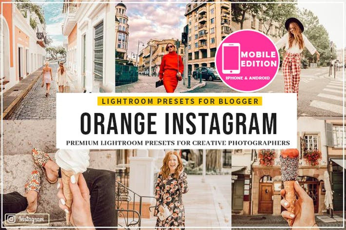 Thumbnail for Orange Instagram Blogger Presets